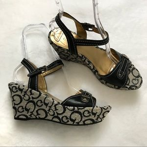 Guess Black Wedges Ankle Strap
